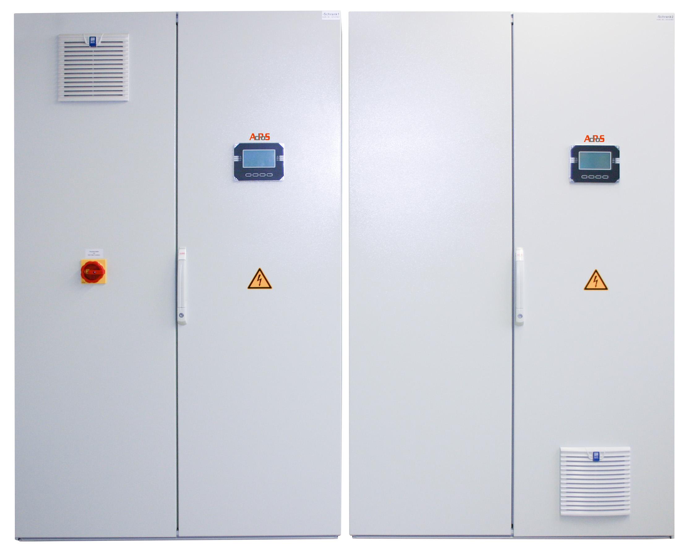 Industrie USV 2 x 20 KVA Maxi J F H Pro von aussen