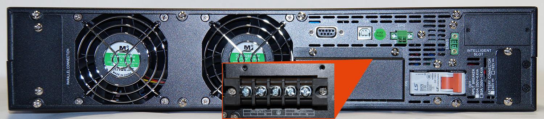 Steckplätze der USV Mini-J RT 6000-V