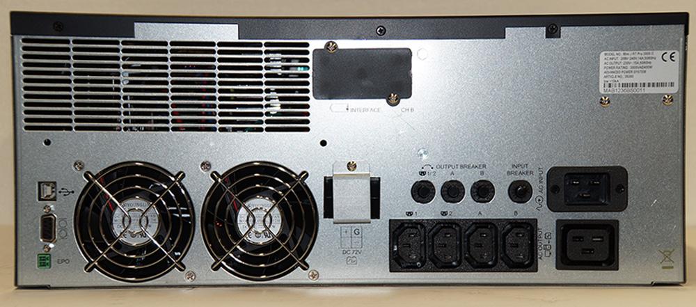 Steckplätze für USV Mini-J-RT-Pro-3000-II