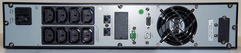 Steckplätze der USV Mini-J RT V 1000 RS