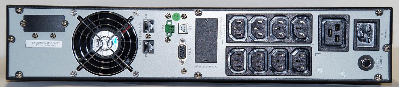 Steckplätze der USV Mini-J RT V 3000